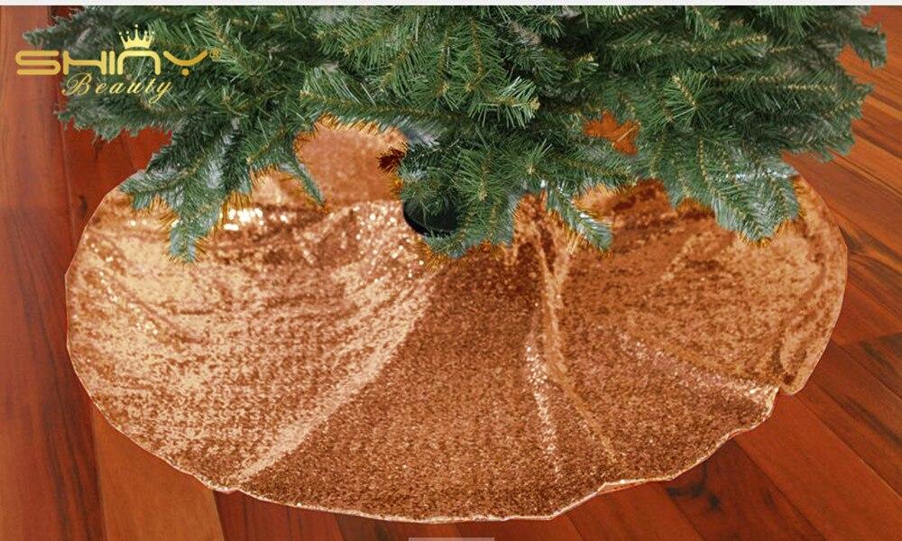 Rose Gold Xmas Tree Skirt Novocom Top
