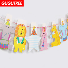 Decorate cartoon animal star lion rabbit deer banners wedding event christmas halloween festival birthday party HY-426