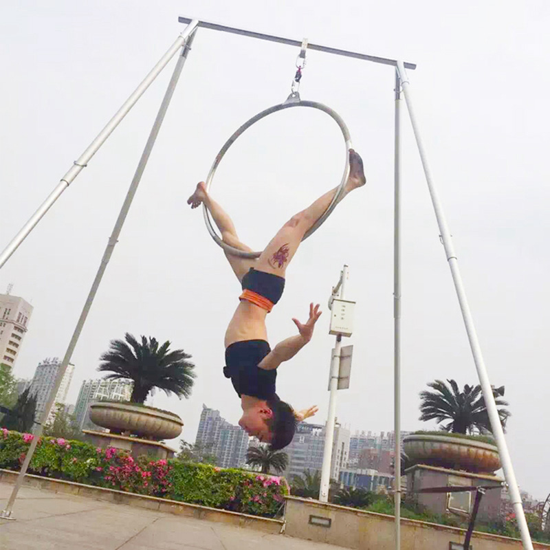 Yoga swing Frames Aerial yoga Stand Stainless steel High quality long length Yoga swing support stand