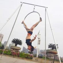 Marcos de columpio para Yoga, soporte aéreo para yoga, de acero inoxidable, de longitud larga, accesorios para Yoga, columpios