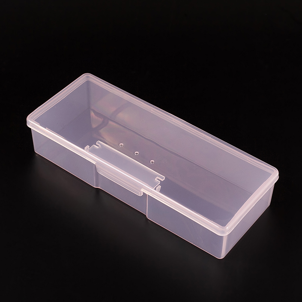 Plastic Transpa Nail Tools Storage Box Rhinestone Decorations Buffer Files Grinding Organizer Case For Manicure In Art Equipment From