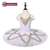 6ca72c3375 Girls White Ballet Tutu Swan Lake Stage Performance Costumes Children  Classical Ballet Dance Competition Dress Adult