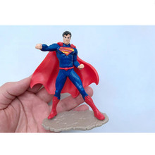 1 pcs Cartoon Super Hero Superman Batman Action Figures PVC Model Three Kinds Of Style Kid Gift Toy