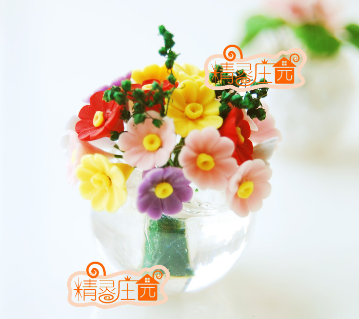 Mini dollhouse Mini Furniture Accessories clay flower clay handmade belly beautiful daisy flower arrangement