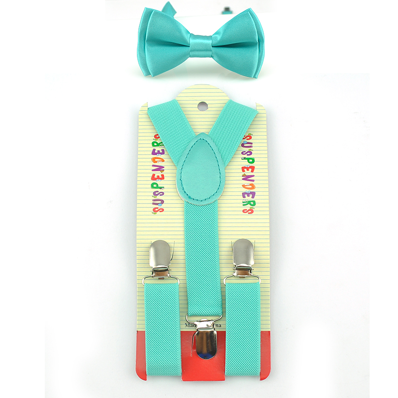 Bow Tie Suspenders Set Y-Shape Braces For Trousers Pants Butterfly Knot Sets Fashion Kids Children Boys Girls Formal Dress Gift
