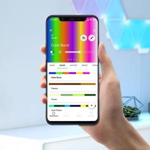 Image 2 - Ban Đầu Youpin Nanoleaf Full Màu Thông Minh Lẻ Đèn Ban Công Việc Với Cho Apple HomeKit Google Nhà Tùy Chỉnh Cài Đặt 4/1 Hộp