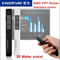 [RedStar] KNORWAY N26C Стандартная версия Красный PPT лазерная указка Powerpoint PPT ручка Сальто дистанционного управления 30 м/Prezi/Основной