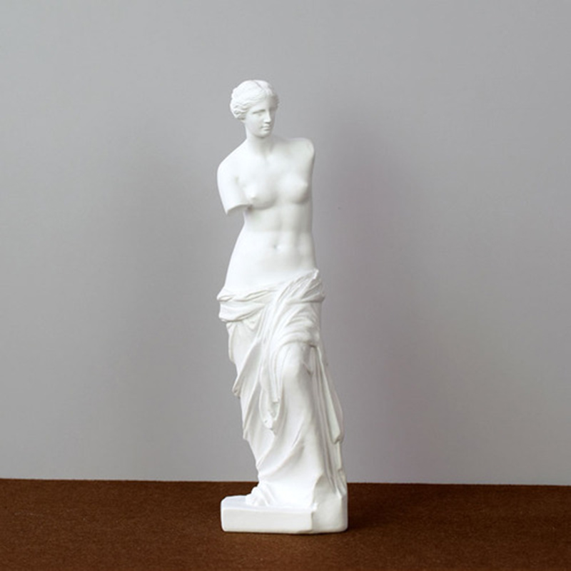Brazo roto Venus ornamentos, escultura de Venus de dios griego Miros, accesorios para el hogar, figura de resina estatua Pastoral Europea resina