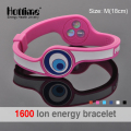 Personalized Power Energy Hologram Bracelets Wristbands Keep Balance Ion Magnetic Therapy Fashion Silicone Bands Free Shipping