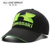 Cool Blue Green Motorcycle F1 Racing Embroideried Kawasaki Cap Hat MOTOGP Baseball Cap Dad Hat Adjustable