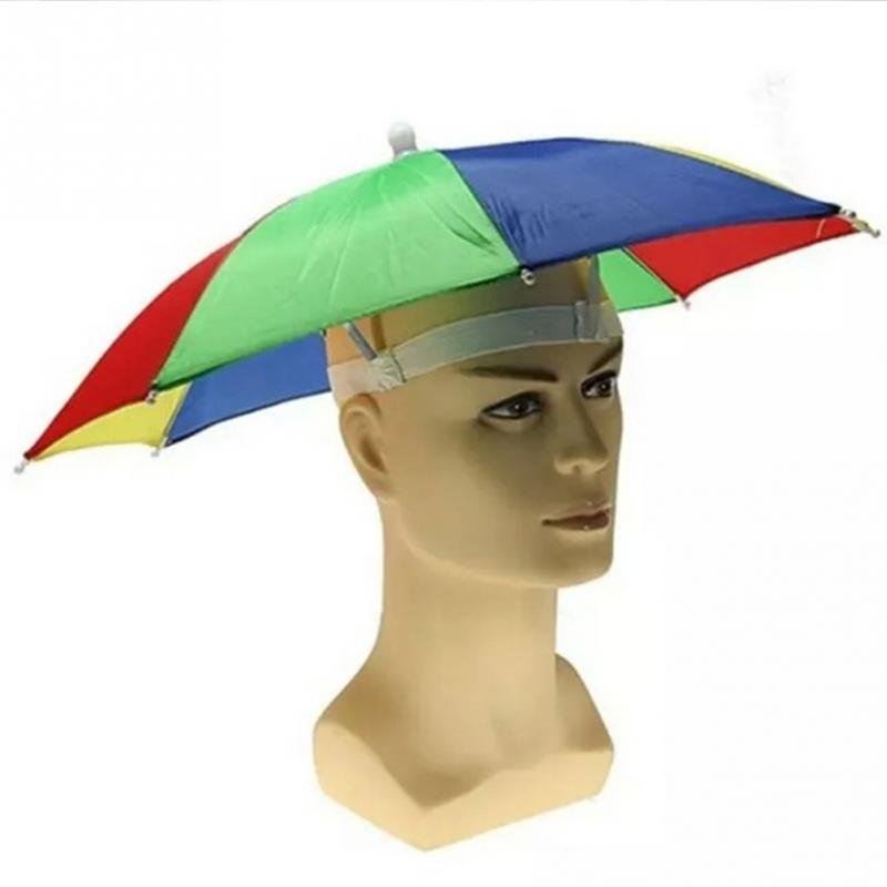 085d807e48d Dropwow New Colorful Foldable Headwear Sun Umbrella Fishing Hiking Beach  Camping Headwear Cap Head Hats Outdoor Sport Umbrella Hat Cap