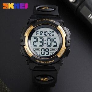Image 3 - SKMEI relógio de pulso digital de marca, relógio LED de pulso digital multifuncional à prova dágua para passear, esporte, relógios para criança, meninos e meninas