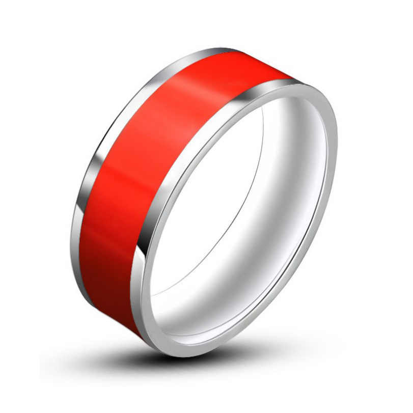 ผสมสีเคลือบเครื่องประดับ mens แหวนสแตนเลสแหวนแฟชั่นเครื่องประดับ