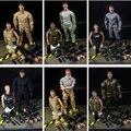 """1 pcs 12 """"1/6 Escala Conjunto Soldado de Combate Do Exército Uniforme Militar SWAT Jogo Brinquedos Com Caixa de Varejo 12"""" Figura de ação Brinquedos Modelo E"""