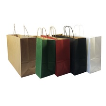 20pcs/lot Multicolor Multifuntion Paper Bags With Handle 42*31*13cm Party Holiday Supplies Horizontal Gift Package Bag