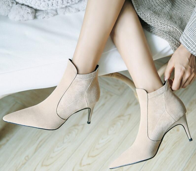 Mince Mujer Talons Chaussons Zapatos En Dames Sapato Femme Haute Chaussure Véritable Chaussures black Apricot Femmes Cuir Bottines Xz181281 Gladiateur PAgqYgzw