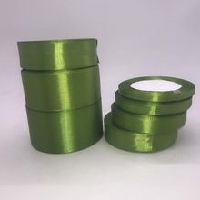 25 Yards Army Green Silk Satin Ribbon Wedding Party Decoration Gift Wrapping Christmas New Year Apparel Sewing Fabric Ribbons(China)