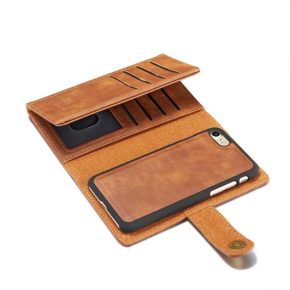 Для iPhone 7/8/7 8 плюс флип чехол 14 слотов кожаный бумажник 2 в 1 съемный кошелек fundas Чехол крышка для iPhone 7 8 плюс