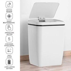Image 2 - Automatyczny bezdotykowy inteligentny czujnik ruchu indukcyjnego kuchenny kubeł na śmieci szeroki czujnik otwarcia ekologiczny kosz na śmieci