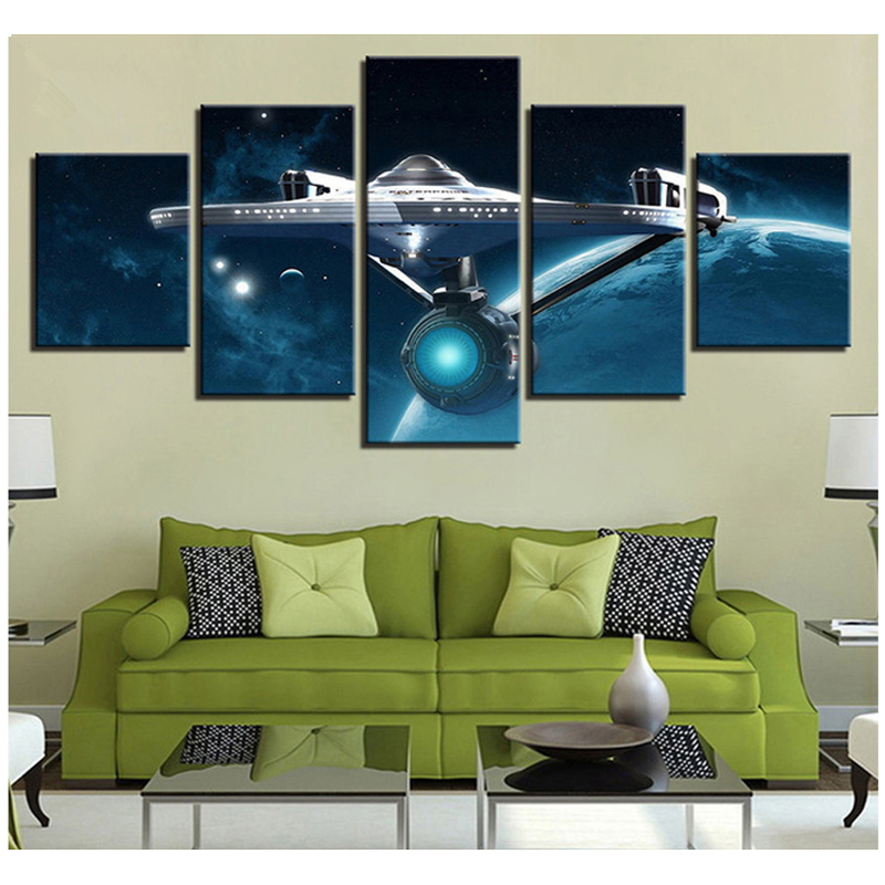 Diamond Embroidery Movie satellite Star Trek DiyDiamond Painting 5pcs 5d Home Decor Diamond Mosaic Picture Of RhinestonesZP-1873 image
