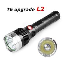 Super Bright 10000lm XM-L2 LED Flashlight Waterproof Torch Lamp Light 26650 battery LED Flashlight Torch Hunting Biking Fishing