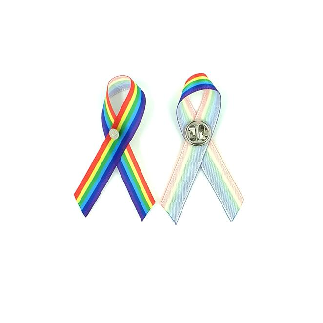 US $19 8 10% OFF 100pcs free shipping Gay Pride Awareness Ribbon Pin  Rainbow Awareness Pins Rainbow Pride Ribbon Royalty-in Brooches from  Jewelry &