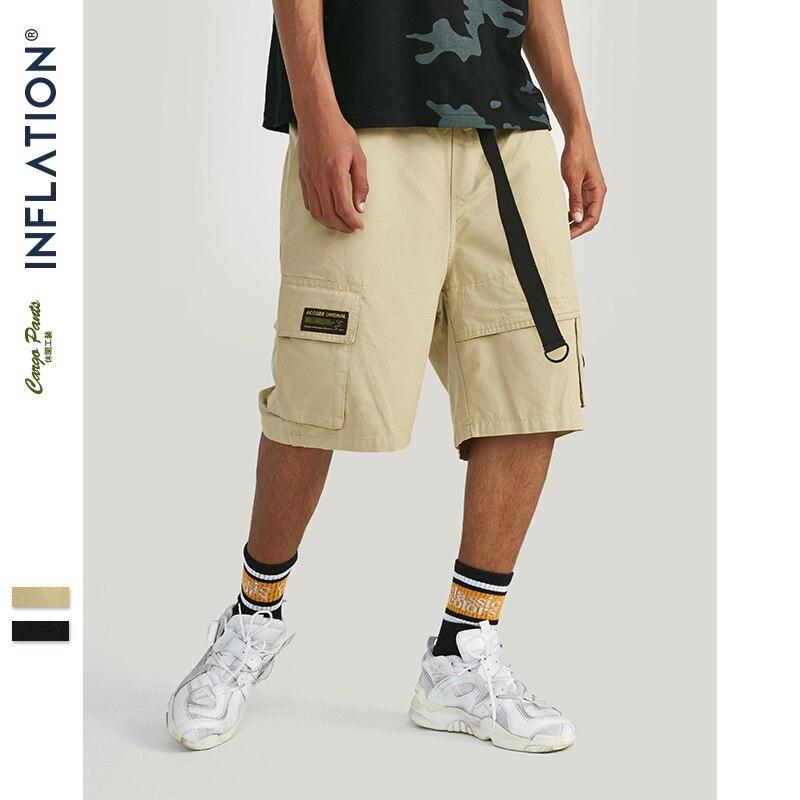 INFLATIE 2019 Zomer Casual Mannen Pocket Shorts Losse Sportkleding Katoen met Riem Nieuwe Mode Ademend Shorts Hombre 94368SD-in Korte broek van Mannenkleding op AliExpress - 11.11_Dubbel 11Vrijgezellendag 1