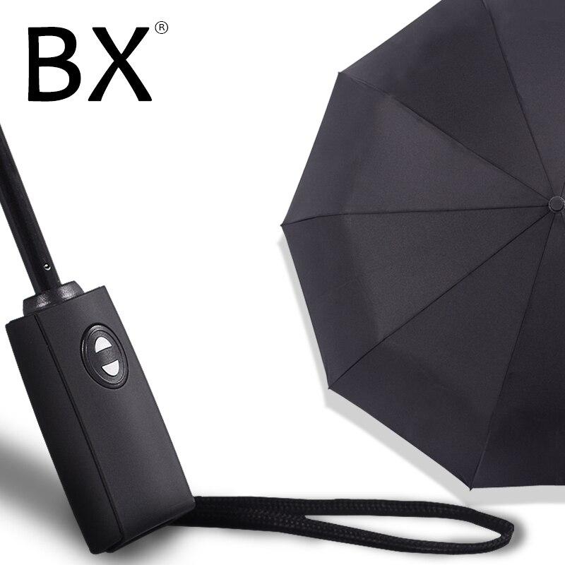 Bachon grand parapluie femelle mâle pluie coupe-vent parapluie entièrement automatique portable pliage parapluie parapluie pour hommes femmes