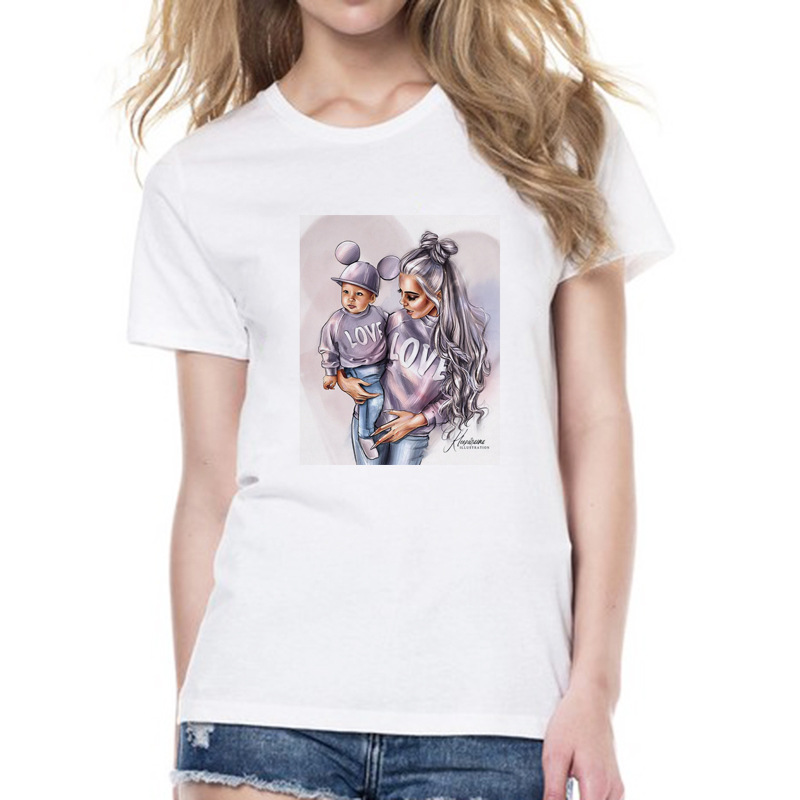 WVIOCE Mommy 39 s Love Female T shirt Mom and Daughter Women 39 s Clothing Fashion Print T Shirt Female Tshirt Short Sleeves Tees in T Shirts from Women 39 s Clothing