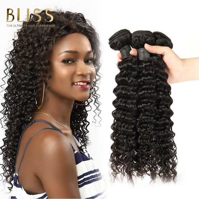 Bliss Hair Brazilian Deep Wave Hair Bundles Deal 100 Remy Human