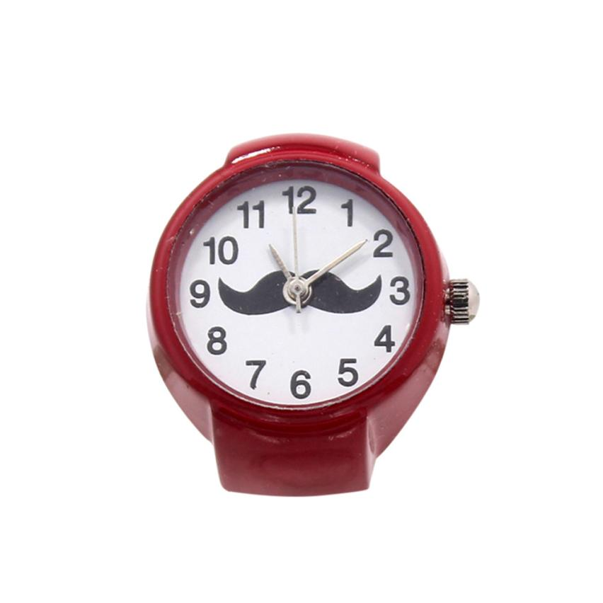 Candy Color Finger Ring Watch Fashion Quartz Analog Clock Creative Steel Cool Elastic Women Men Lovers Ring Watches July17
