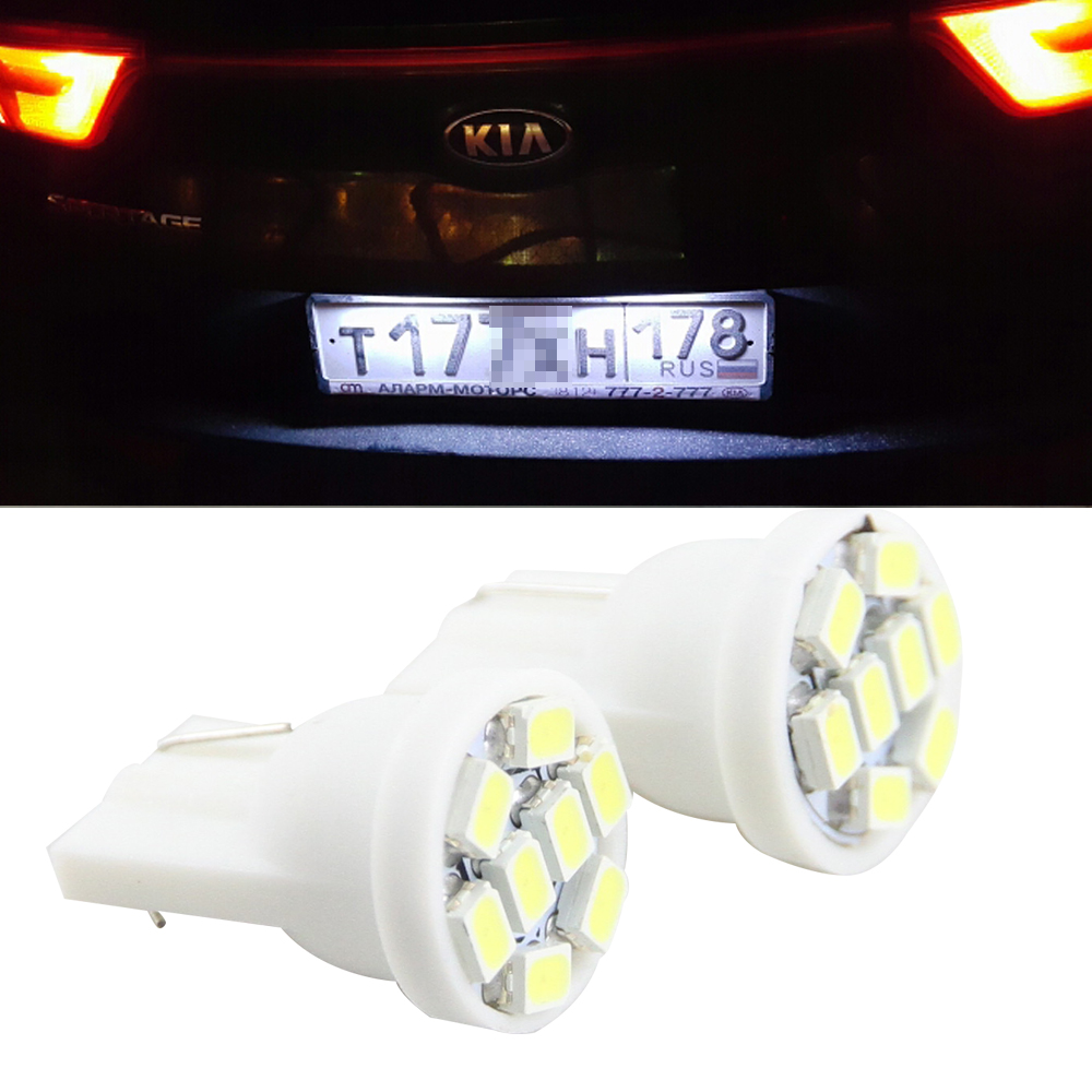 No Error For Kia Sportage 2016 2017 KX5 White LED Number License Plate Light Lamp with 1206 8SMD 12V Tail light sourcing 18 smd 2x no error car styling led license plate light for kia ceed cerato forte auto rear number plate lamp replacement