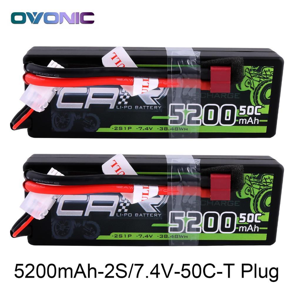 2X Ovonique LiPo Batterie 5200 mah 7.4 v LiPo 2 s 50C-100C Batterie Étui pour 1/8 1/10 Bandit Emaxx traxxas Slash HPI RC Voiture