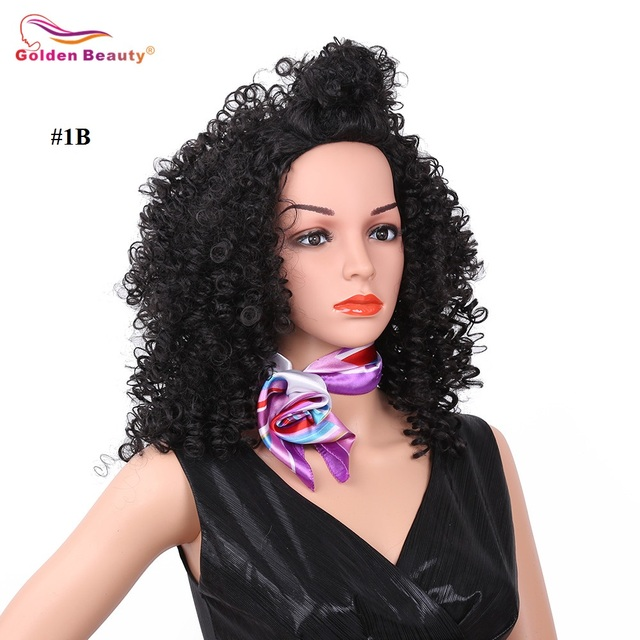 16inch Afro Kinky Curly Wig Synthetic Wig