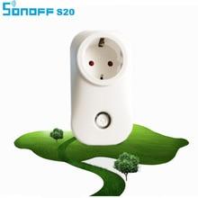 Itead Sonoff S20 Wifi Smart Socket Smart Home Wireless Remote Control Timer Socket EU 10A 2200W Wifi Power Supply Plug