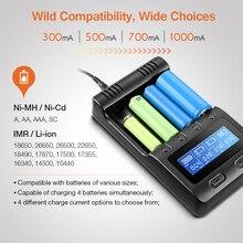 Zanflare C4 многофункциональный 4 Батарея Зарядное устройство ЕС Plug с 4 слота регулируемая зарядки Портативный автомобиля Зарядное устройство ЖК-дисплей Дисплей Зарядное устройство