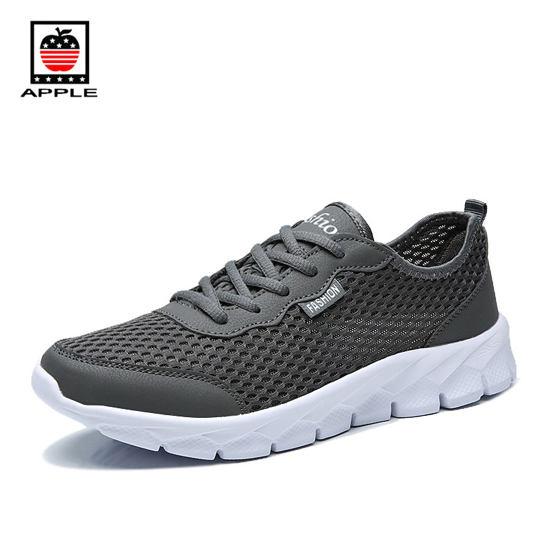 Apple Free shipping couple big hole mesh sneakers New arrival men women light breathable running shoes size 46 47 48 AP1420