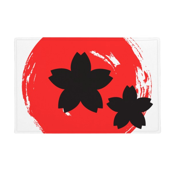 Abstract Brush Painting Japan Anti-slip Floor Mat Carpet Bathroom Living Room Kitchen Door 16x30Gift