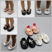Fits 43cm Babies Born Doll Casual Shoes Black White Pink Glitter Color 18 American  Sneackers Accessories