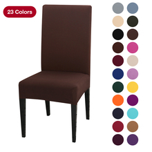 chair covers soft Solid Color chair covers chair cover stretch Protection Covers For Dining Room Kitchen Wedding Banquet