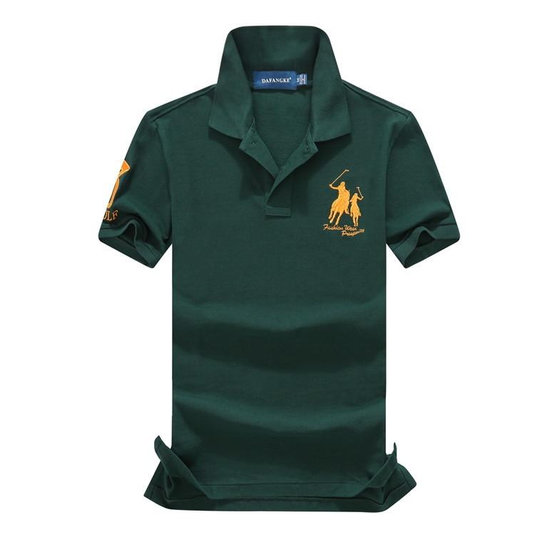 abundance flloh 2018 Mens   Polo   Shirt Brands Male Short Sleeve Casual Slim Solid Color Deer Embroidery   Polo   shirts