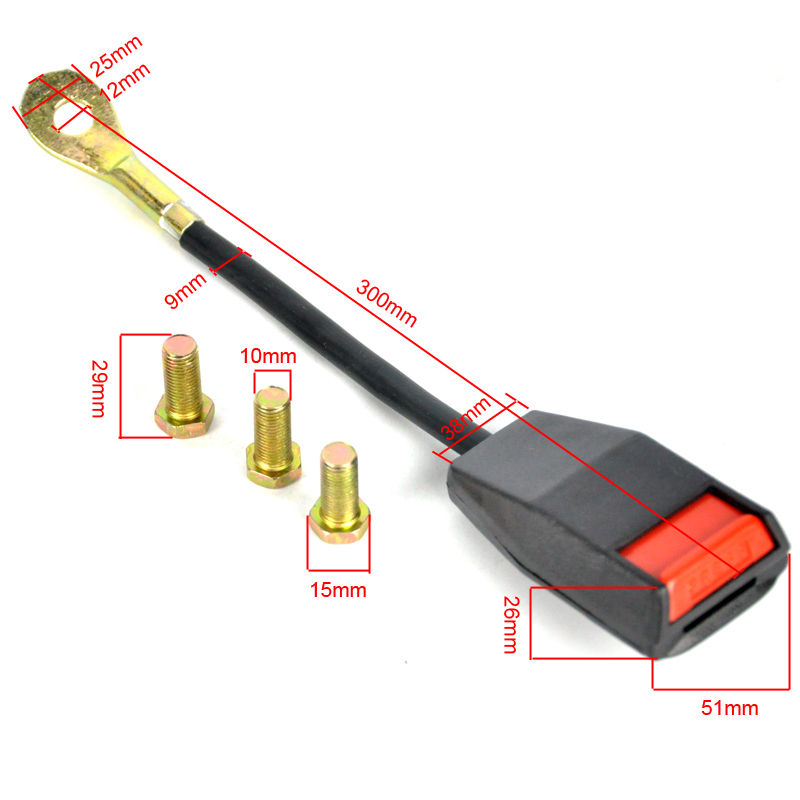 BORUiT Universal 3 Punkt Auto Sicherheitsgurt Gurtband - Auto-Innenausstattung und Zubehör - Foto 5