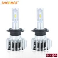SAARMAT Car LED Headlight Bulbs H7 DRL H4 9003 HB2 Hi Lo Beam Lights Fog Lights