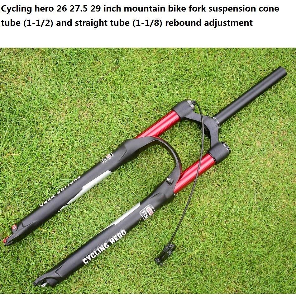 100 120mm Rechte/cone Air mountainbike Voorvering Plug bounce aanpassing 26 27.5 29 inch Optioneel gift VOS sticker - 3