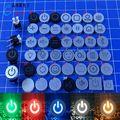 (Кепки + коммутатор) = 1 шт Always Open логотип Кепки 6X6 с светильник Кнопка сброса Кепки 6*6 с светильник переключатель и шляпа с различными логотипами дизайн - фото