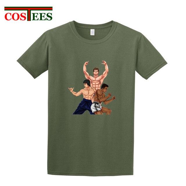 8f5ec1e8ab2 Dibujos animados se convierte en tu propia leyenda camisetas Bruce Lee artes  artiales Muhammad Ali boxeo