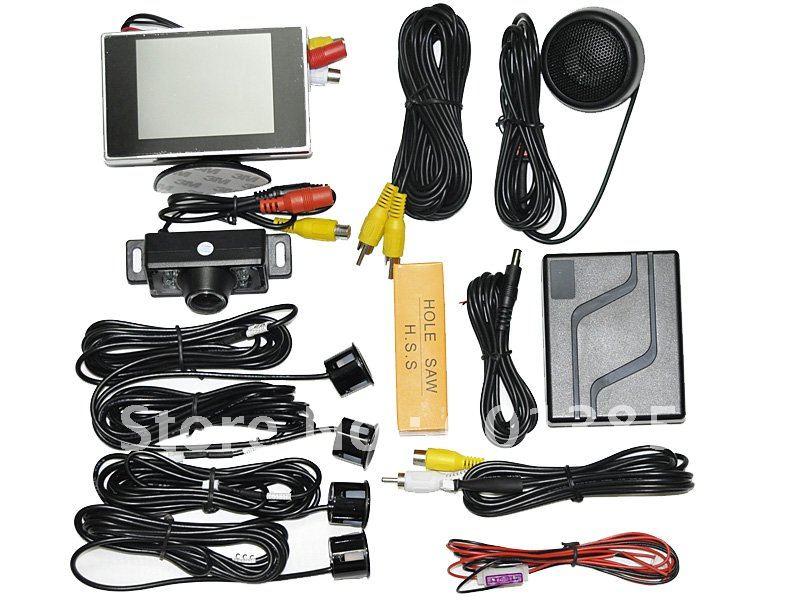 Moniteur 3.5 pouces et rétroviseur (indication d'orientation des obstacles) et caméra de vision nocturne et livraison gratuite