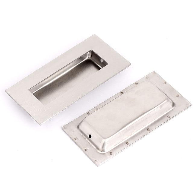 UXCELL Rectangle Métal Encastré Porte Tiroir Poignée Flush Hardware 102X50 Mm 2 Pcs