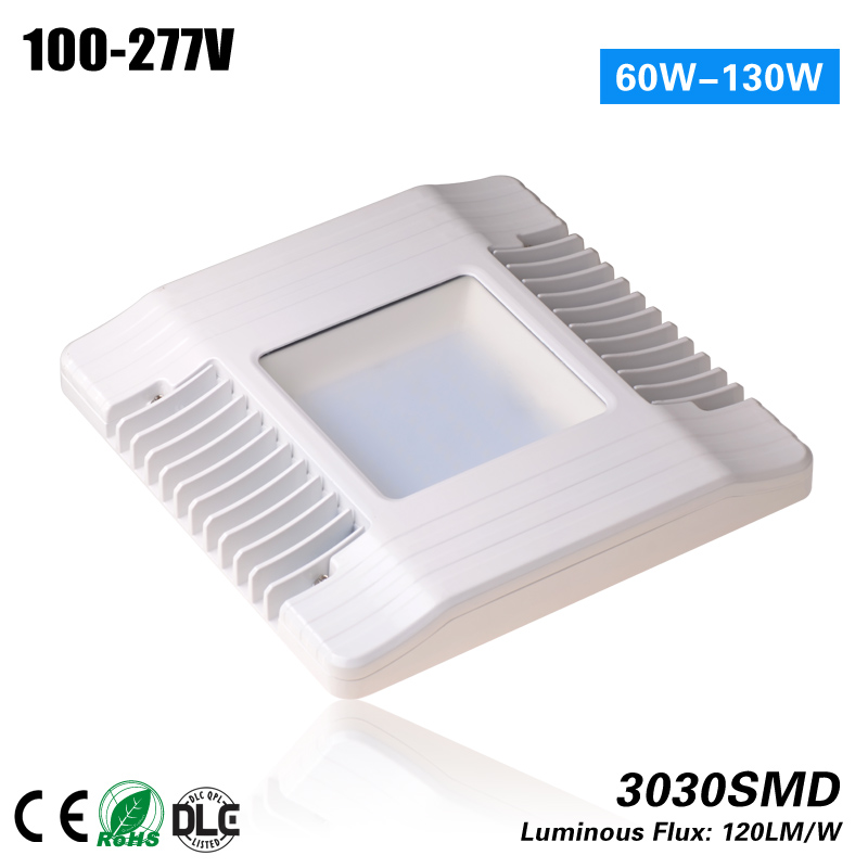 UL DLC 130W LED Gas Station canopy 5 years warranty can replace 400w MH 1000led led gas station light 150w 16 000 lumen 500w 650w hid hps equal daylight 5 000 kevin ac100 277v waterproof ip65 canopy