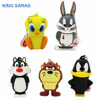 Roi SARAS bande dessinée 64 GB lapin lion canard usb clé usb 2.0 4 GB 8 GB 16 GB 32 GB clé usb cadeau mignon